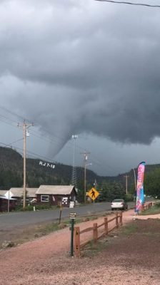 Photo sent to the National Weather Service by Reba Jones